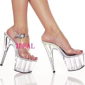 High heels crystal/ clear shoes